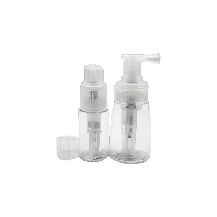 small and exquisite plastic dry powder bottle