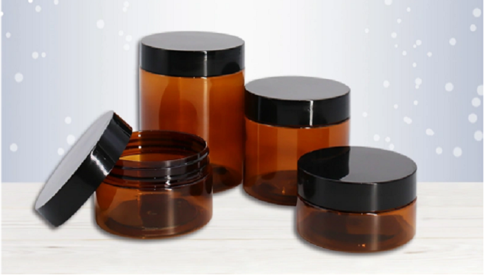 amber PET cosmetic cream jar